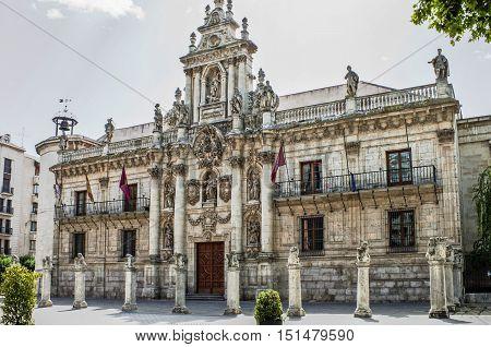 Ancient university in Valladolid Castilla y Leon Spain