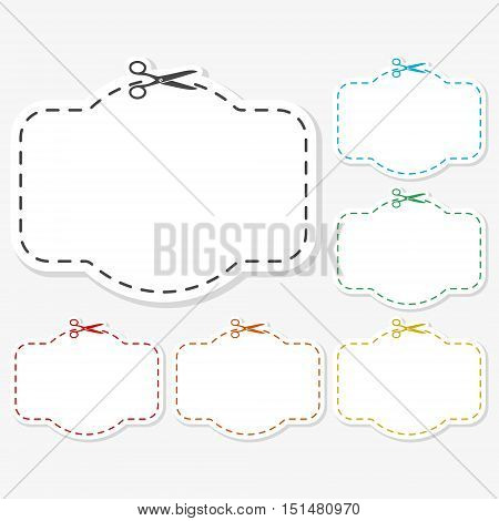 Blank white advertising coupon cut from sheet of paper