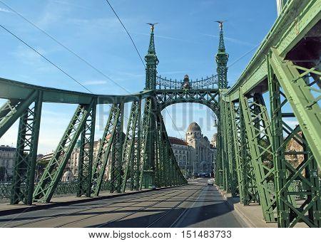 Liberty Bridge over the River Danube in Budapest