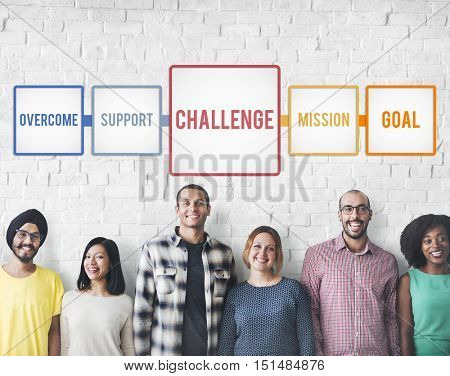 Aim Ambition Challenge Overcome Goal Concept