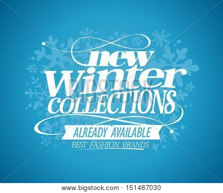 New winter collections already available design, rasterized version