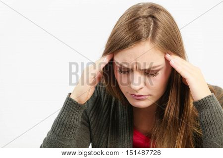 Young Woman With Painful Headache