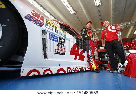 Concord, NC - Oct 06, 2016: Jamie McMurray (1) gets ready to practice for the Bank of America 500 at the Charlotte Motor Speedway in Concord, NC.