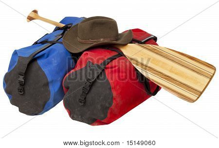 Paddle, Hat And Waterproof Luggage
