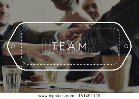 Team Teamwork Support Strategy United Alliance Concept