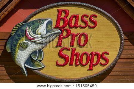 Bass Pro Shops Exterior Sign And Logo
