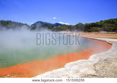 Wai-o-tapu Thermal Wonderland In New Zealand.