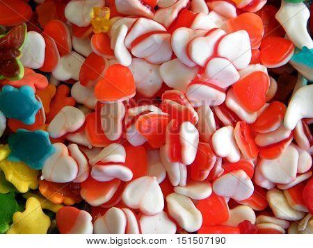 Candy on bazaar in Tel Aviv IsraelJanuary 7 2011