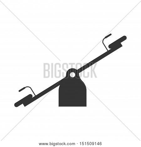 silhouette see saw for kids vector illustration
