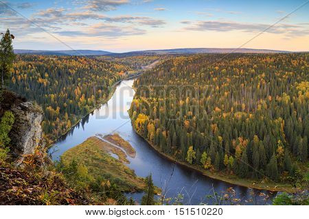 autumn forest, fall colors, russian nature, urals nature, autumn landscape