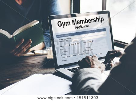 Gym Membership Application Form Concept