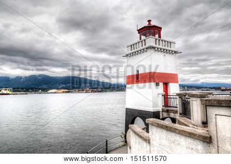 Brockton Point Lighthouse In Vancouver, Canada