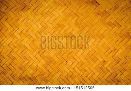 Bamboo weave pattern texture or background. Wooden.