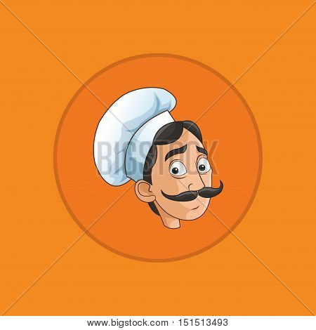emblem happy chef or cook icon image vector illustration design