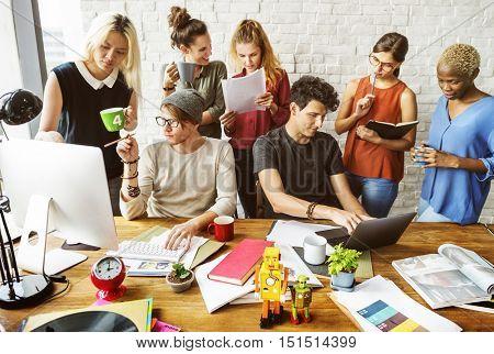 Workspace Office Brainstorm Discussion Concept