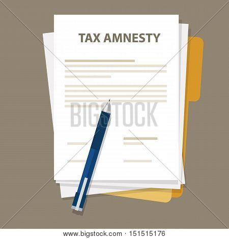 Tax amnesty illustration, government forgive taxation vector