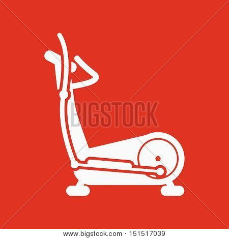 The elliptical trainer icon. Bike symbol. Flat Vector illustration