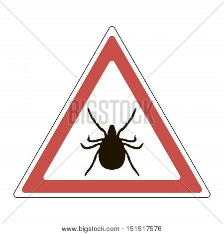 Warning sign - a tick, vector, for print or design