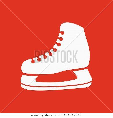 The skates icon. Hockey skates symbol. Flat Vector illustration.