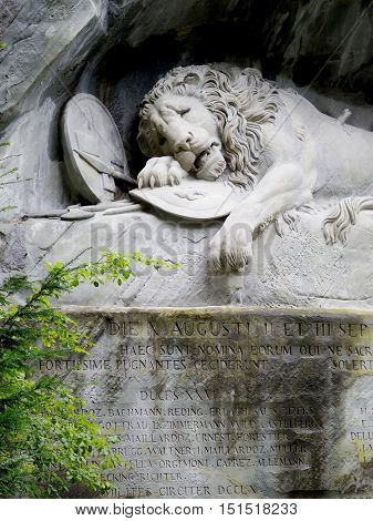 The Lion Monument Of Lucerne.