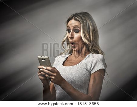 Girl with smartphone.