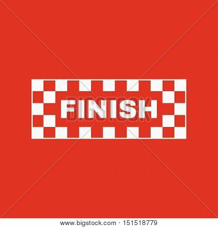 The finish icon. Finish symbol. Flat Vector illustration