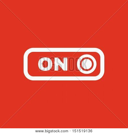 The on button icon. Switch symbol. Flat Vector illustration. Button