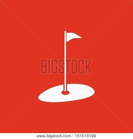 The golf icon. Sport symbol. Flat Vector illustration