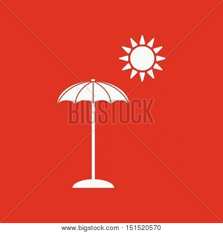 The parasol icon. Vacation symbol. Flat Vector illustration