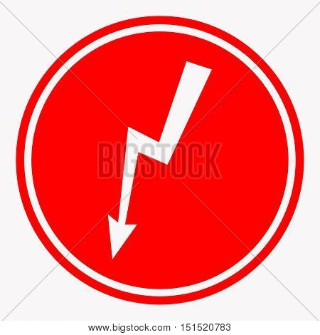 warning and danger sign attention symbol. Vector illustration isolated on white