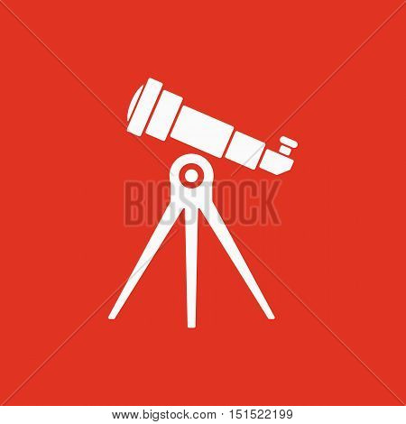 The telescope icon. Spyglass symbol. Flat Vector illustration