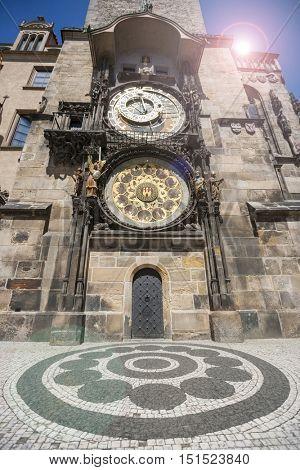 Very old Prague Astronomical Clock, Prague Orloj