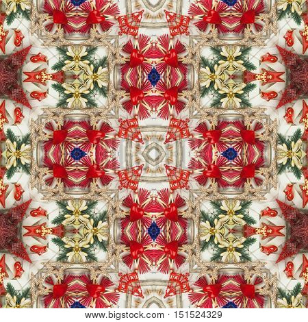 New texture of Christmas wrapping paper. Luxury gift wrapping. Background on Christmas Eve. Decorations for the presents.
