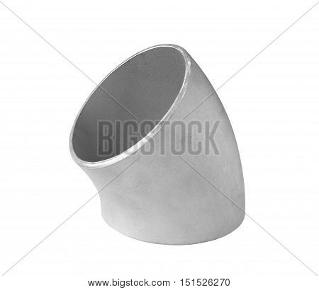 Steel Pipe Elbow isolated on white background