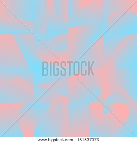 Colorful seamless pattern with mixed gradient blocks. Decorative background texture. Element of design.