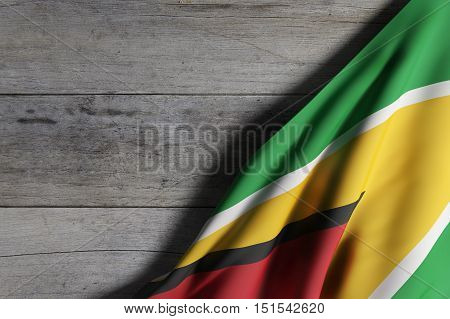 Republic Of Guyana Flag Waving