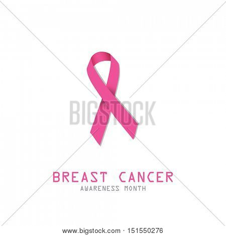 Breast cancer. Pink ribbon. Symbol for breast cancer awareness.