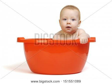 Cute baby in the tub