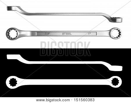 spanners 3d render with alpha close up