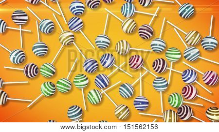 Lollipops. Candy On Stick