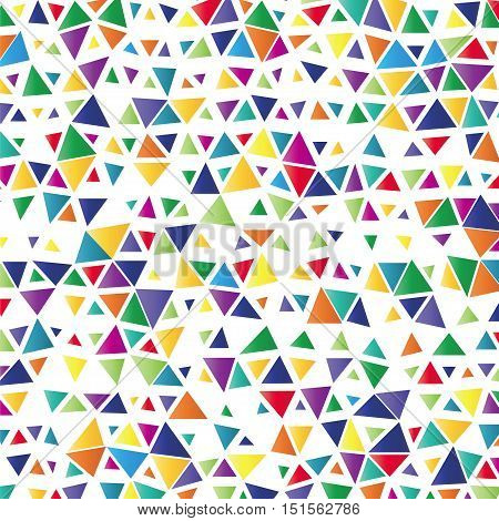 Background With Colored Triangles