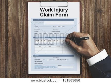 Work Injury Compensation Form Concept