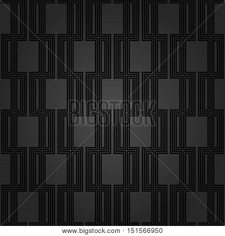 Seamless pattern by stripes. Modern background with repeating lines. Seamless geometric background. Dark geeometric pattern