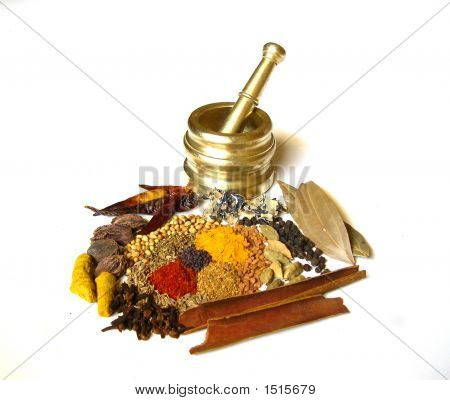 Spices With Mortar 1