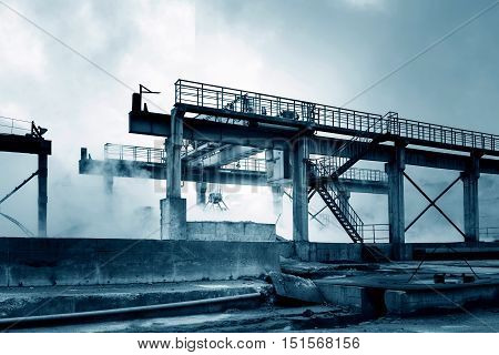 Smelting factory overhead crane in Shanghai China.