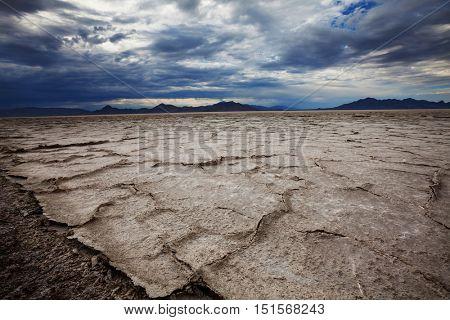 Salt desert in Utan, Bonneville