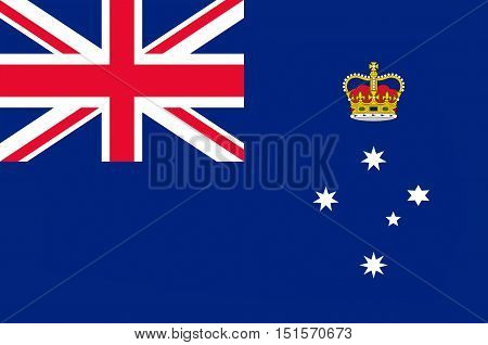 Flag of Victoria (Vic) is a state in the south-east of Australia