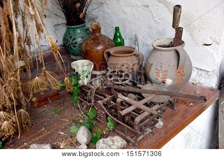 Corner Of The House Full With Antiquities