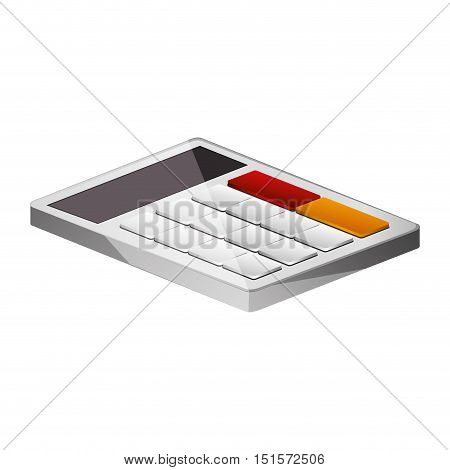 office color calculator lying down vector illustration