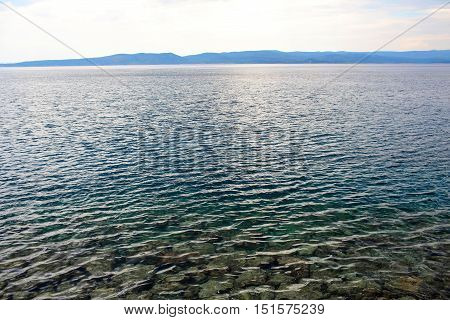 Blue Sea Transparent Shallow Water